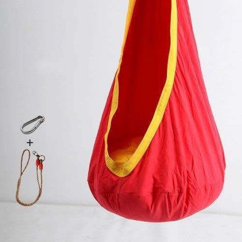 Bureze Balancelle pour enfant en tissu coton + coussin gonflable en PVC