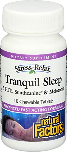 Natural Factors, Stress Relax Tranquil Sleep Chewable, 10 Tablets