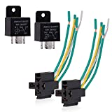 EHDIS 5 Pin Relay Harness Car Truck Relay Socket Harness kit 5 Pre-Wired 24V 40 Amp SPDT Bosch Style, Automotive Motor Relay Contact Switches Power Model JD2912-1Z24VDC 40A 28VDC,Pack of 2