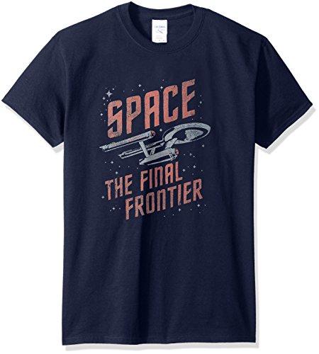 Star Trek/Space Travel-Short Sleeve Adult -Navy-Lg