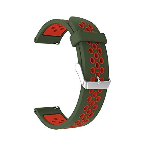 Simplicidad con Estilo Banda de Silicona for Samsung Gear S3 Frontier/Classic 22mm Reloj Correa de Reloj Reemplazar Pulsera for Samsung Galaxy Watch 46mm Pulsera Accesorios de Reloj