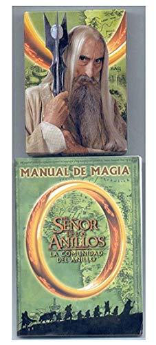 Naipes Heraclio Fournier Juego de Magia El señor de los Anillos - La Comunidad del Anillo Baraja de Poker 55 Cartas + Manual de Magia