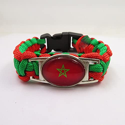 AETTP 2Pc Marokko Flagge Armbänder Charm Handmade Marokko Frauen Männer Armreifen Schmuck Freundschaft Geschenke Gift