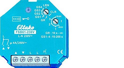 Eltako FSB61-230V Radiogestuurde radio zonder N-aansluiting voor schaduwelementen en rolluiken, 230 V, mogelijk niet beschikbaar in het Nederlands, 4 A
