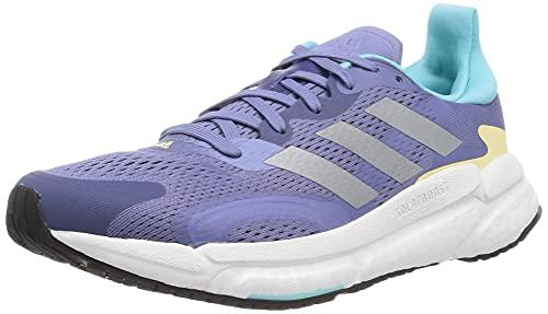 Adidas Solar Boost 3 W, Zapatillas para Correr Mujer, Orbit Violet/Silver Met./Orange Tint, 39 1/3 EU