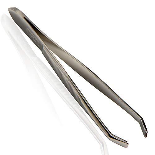 Titania Solingen Pince à épiler, courbé, droite, pack de 1 (1 x 12 g)