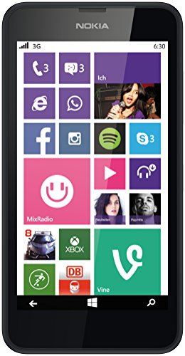 Nokia Lumia 630 Single-SIM Smartphone (4,5 Zoll (11,4 cm) Touch-Display, 8 GB Speicher, Windows 8.1) schwarz