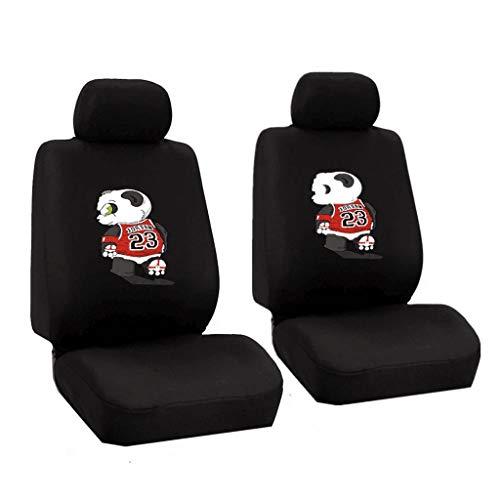 Auto Seat Cover/Vier seizoenen Universeel, Panda patroon voetbal spel kussen, 8 sets A