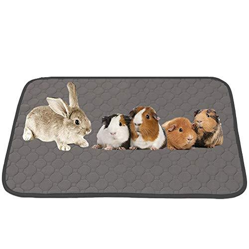 JWShang Forro polar para jaula de conejillo de indias, lavable para mascotas, alfombrilla impermeable reutilizable, alfombrilla antideslizante para perros y gatos