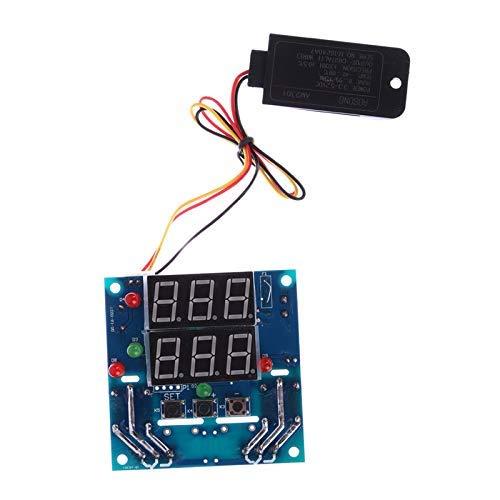 FYYONG Módulo del controlador de temperatura higrómetro AC/DC 12V Digital Humedad tarjeta controladora de relé del termostato de temperatura capacitiva