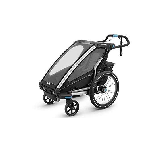 Thule Chariot Sport Set Black Edition Fahrradanhänger, inkl. Joggigset Buggy / für 1 Kind