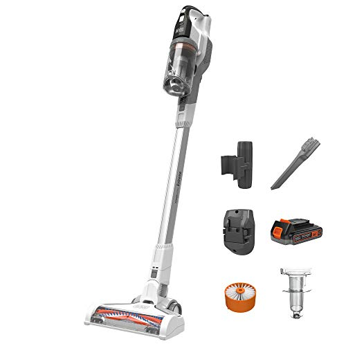 beyond by BLACK + DECKER 20V POWERSERIES Extreme Cordless Stick Vacuum Cleaner, White - Superior Suction Power - Cordless & Portable - Multi-Surface Cleaning (Model Number: BSV2020WAPB)
