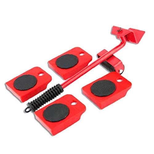 TOPofly Schwere Möbel Shifter Lifter Räder bewegen Kit Slider Mover Easy Move Entfernen Red