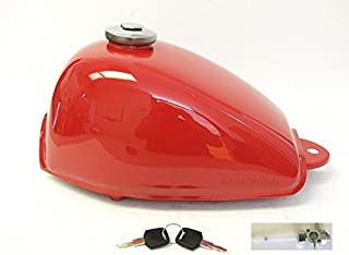 Z50 Z50R MONKEY GAS FUEL PETROL TANK WITH CAP KEYS AND PETCOCK TAHITIAN RED COLOR NICE!!!