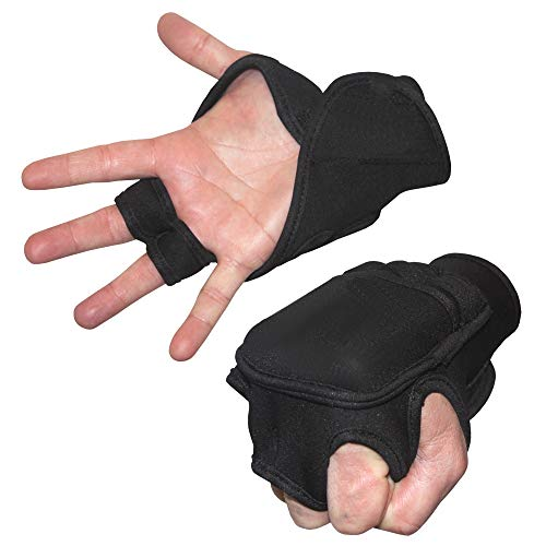 FIT1ST Fitness First Weighted Hand Gloves Black, Large
