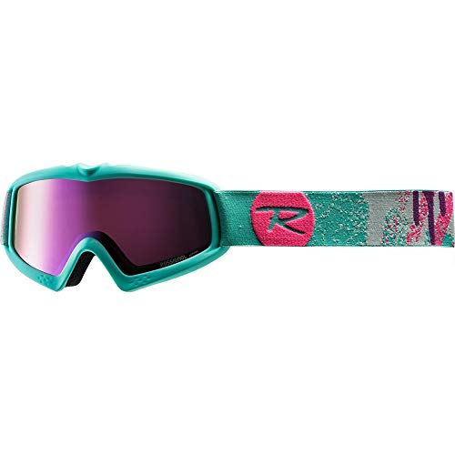 Rossignol Raffish Tempatation Skibrille Junior, Unisex, Kinder, Türkis (Türkis/Pink), 6-12 Years Old