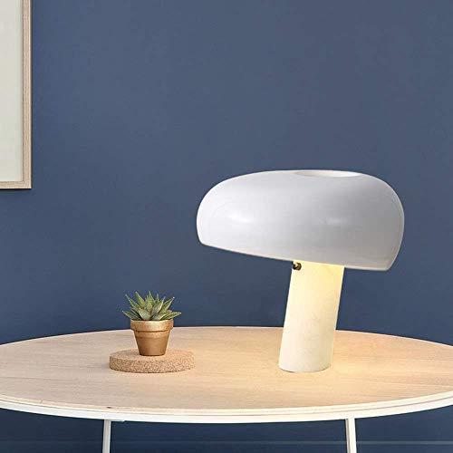 CENPEN Lámpara de escritorio de mármol moderno nórdico, para sala de estar, dormitorio, mesita de noche, bar, estudio, metal, color blanco, 39 x 39 x 37 cm, alto sabor