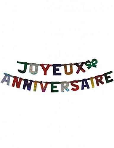 Guirlande Lettre Géante Joyeux Anniversaire - Décoration Anniversaire - Fête Anniversaire