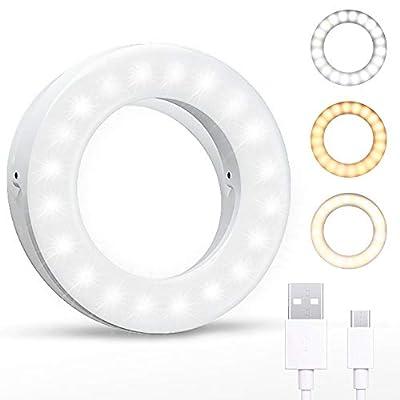 Selfie Ring Light 3 Light Modes Clip On