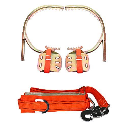 Fittoway Baumklettern Steigeisen Baumklettern Ausrüstung Set Mit Sicherheitsgurt Für Dschungel Überleben, Obstpflücken, Jagd