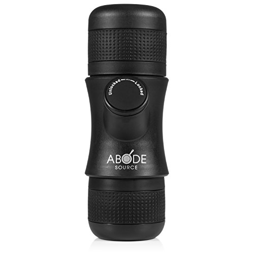 Abode Source - Portable Single Shot Mini Espresso Maker - Compact Travel Size - Easy to Use for...