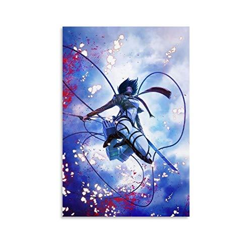 one1love Lienzo artworks anime Attack on Titan Lienzo decorativo para dormitorio, sala de estar, gimnasio, oficina, 50 x 75 cm, sin marco