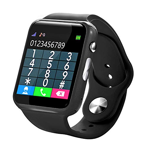 U10 Smart Baby Watchh,Smartwatch for Android Phones, Smart Watches Touchscreen with Camera Bluetooth Watch Phone with SIM Card Slot Watch Cell Phone Compatible Android iOS Phone (Black)