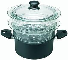 BALLARINI Neu Gli Speciali-Olla para cocción al Vapor, 20 cm, Compuesto, Negro
