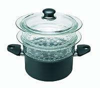 ballarini 1000497 set per la cottura a vapore, alluminio, nero, ø 20 cm