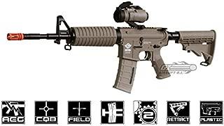 combat machine m16 carbine aeg airsoft gun ( m4-a1 / tan )(Airsoft Gun)