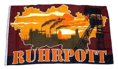 Fahne/Flagge Ruhrpott Silhouette NEU 90 x 150 cm