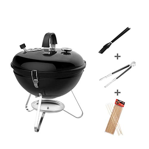 Best Prices! Zjnhl Family Gathering/Small Barbecue Portable Charcoal Barbecue, Outdoor Enamelled BBQ...