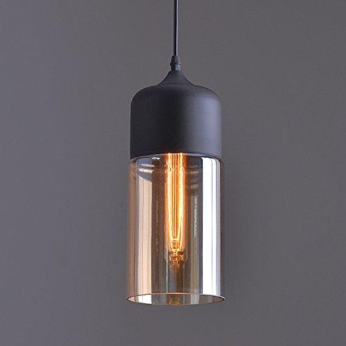 Preisvergleich Produktbild Weare Home Retro-Restaurant oder Küche Durchsichtiger Glas-Lampenschirm Pendelleuchten,  Durchmesser 13cm,  Höhe 33cm