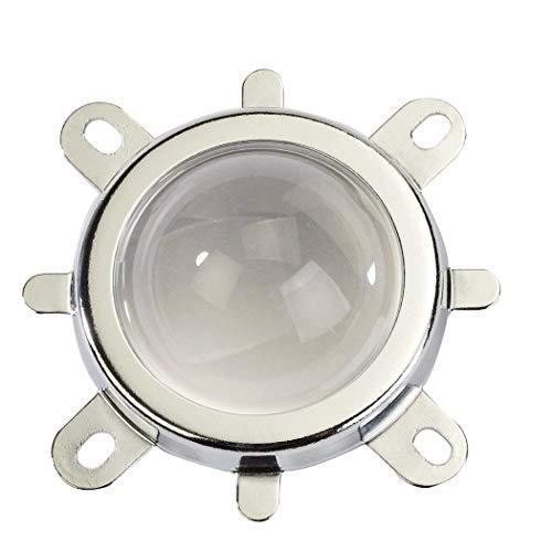 Tesfish 44mm Objektiv + 50mm Reflektorschale + feste Halterung Abstrahl winkel 120 Grad für 30W 50W 100W Led Licht chip