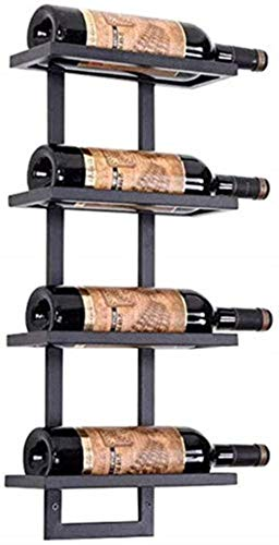 Little Black Modern wandrek Wine Rack metalen fles van smeedijzer, modern, omkeerbaar, glas wijn glas display Stand Cork Wijnrek Rack Display (afmetingen: 6 flessen)