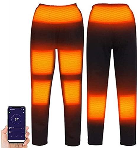 joyvio Pantalones térmicos con batería de Capa Base de 5 V para Mujeres, Hombres, Forro térmico para Motocicleta, pantalón para Clima frío (Color : Woman, Size : 4XL)