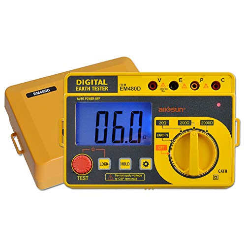 ALLOSUN Digital Earth Tester with Hard Case