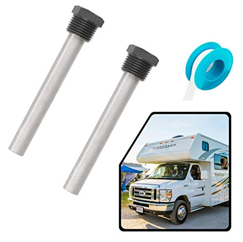 """RV Water Heater Magnesium Anode Rod for Atwood Heaters, Dele 2 Pack 1/2"""" NPT RV Hot Water Tank Anode Rod for RV, Camper and Trailer Water Heaters"""