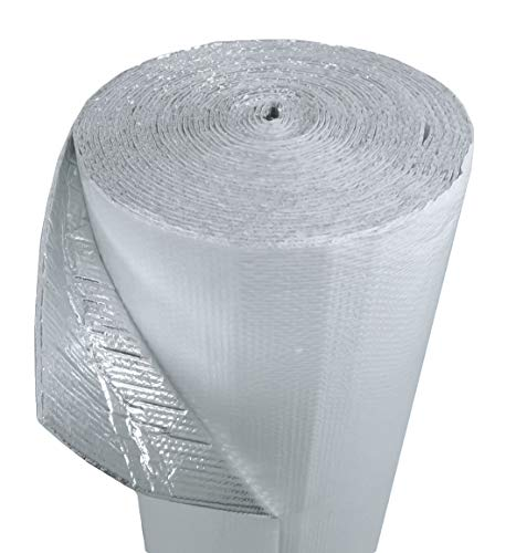 US Energy Products 12' x 10' White Double Bubble Reflective Foil Insulation Thermal Barrier R8 Industrial Strength, Commercial Grade, No Tear, Radiant Barrier Wrap for Weatherproofing Attics, More!