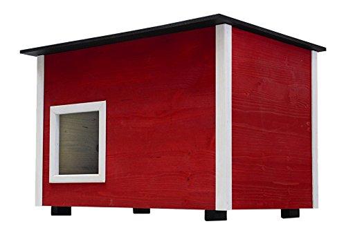 Elmato, Deluxe Katzenhaus mit isoliertem Boden, 60 x 40 x 43 cm