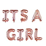 Pompon Girlande Banneres Ist Ein Junge/Mädchenbirthday Party Dekoration Diy Set Nippel Baby Flasche Füße Brief Balloonbunting Banner, Es Ist Ein Mädchen Ballon