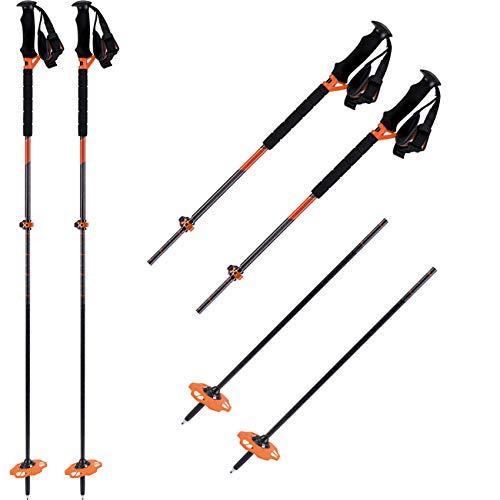 K2 Skis Herren Lock JAW Carbon Plus Skistock, Design, Einheitsgröße