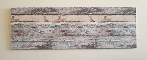 Muebles pejecar cabecero para Cama de 135 Fabricado en MDF con Papel Pintado Imitacion a Madera