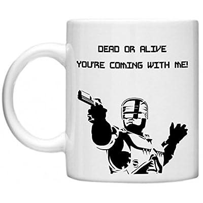 Robocop 80s Movie Ceramic Mug.  Enforce the law while drinking tea!