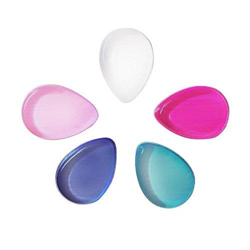 MZP Coeur gel transparent feuilletée en forme de bouffée cosmétique manger chou à la crème BB poudre humide * 5 couleur aléatoire