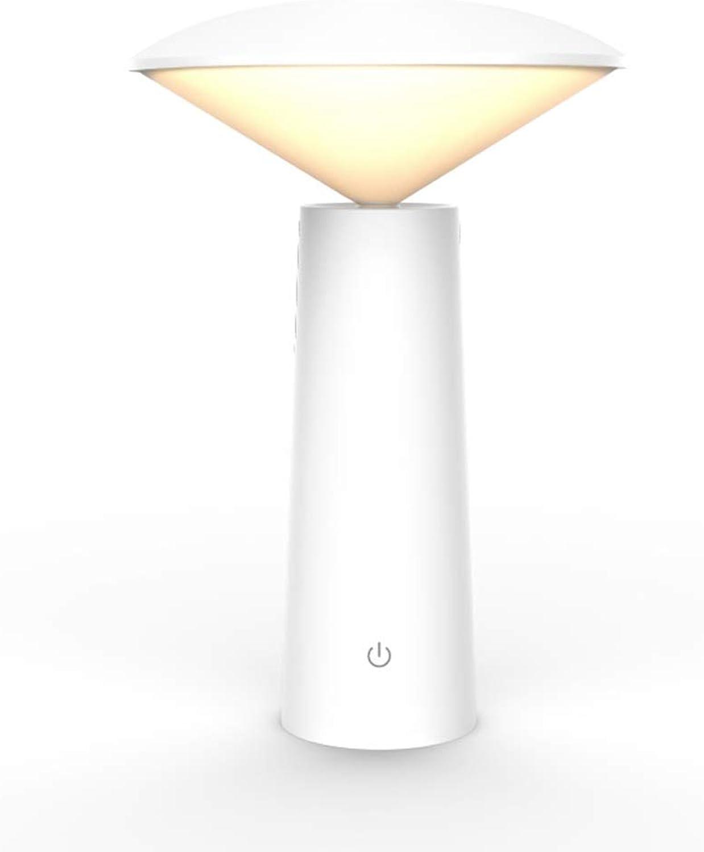 GYL-JL Dimmbare LED-Schreibtischlampe, USB-Schnellladeanschluss, Augenschutz-LED, Schreibtisch-Augenschutz-Studentenwohnheimbeleuchtung-Tischlampe (Farbe   Weiß)