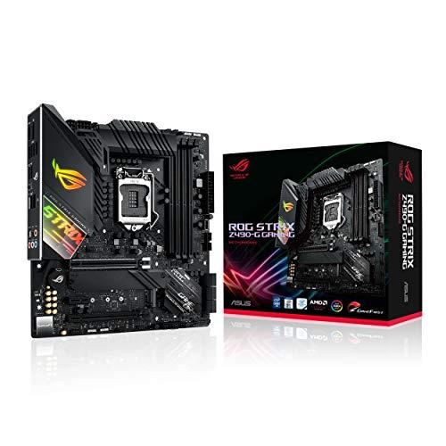 ASUS Gaming Mainboard ATX Intel 8a 9 Gen, LGA 1151 mit RGB-Beleuchtung Aura Sync, OC durch IA, DDR4 4266 MHz+, 2 M.2 mit Kühlung, SATA 6Gbps, HDMI und USB 3.1 Gen. 2. ROG Strix Z490-G Gaming Z490