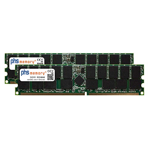 PHS-memory 4GB (2x2GB) Kit RAM Speicher für Fujitsu Primergy BX630 DDR1 RDIMM 400MHz PC3200R