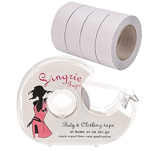 Rubywoo&chili  Fashion Tape, 5 Rolle Boob Tape Doppelseitiges Klebeband Unsichtbare Klebe für BH Träger Kleid Damen Bekleidung, Normal, Durchsichtig