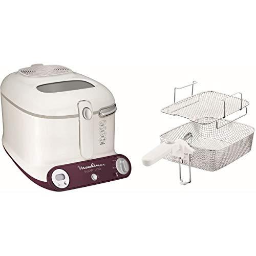 Moulinex AM3031 Super Uno Friteuse avec panier à double niveau, avec cartouche anti-odeur, capacité 1,5 l